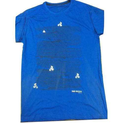 Blue Round Neck T Shirt