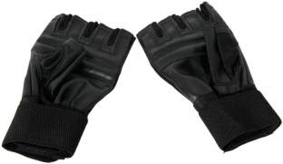 Leather Look Rexin Gym Sports Gloves