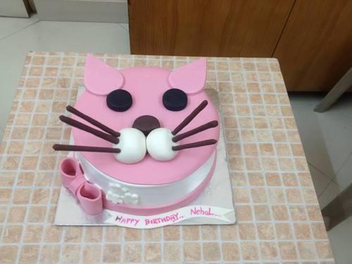 Cat Design Cake