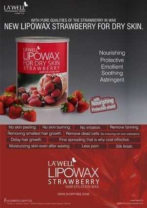 Strawberry Liposoluble Hair Removal Wax