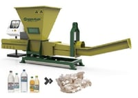 PET Bottles and PE Film Recycling with GREENMAX Poseidon Series Machine