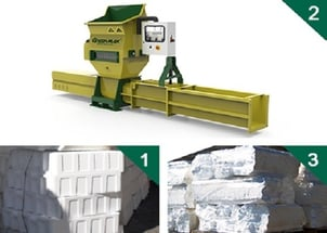 EPS Recycling with GREENMAX APOLO C200 Machine