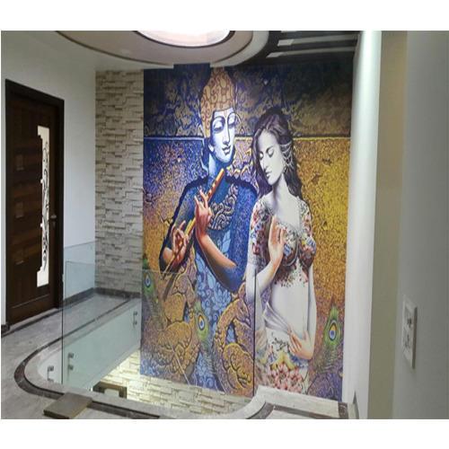radha krishna 3d room wallpaper 048