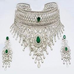 Heavy Design Diamond Necklace Rajvee Diamond No 12 Kabir