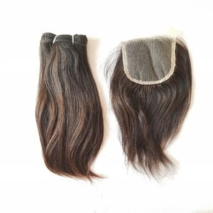 Raw Virgin Straight Lace Closures 4x4 100% Unprocessed