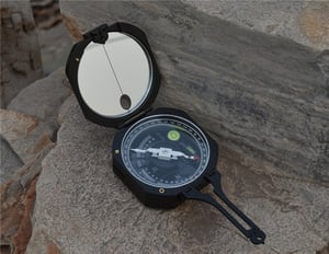 Brunton Type Metal Magnetic Geology Compass With Clinometer