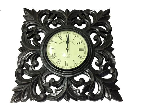 Designer Wooden Golden Wall Clock