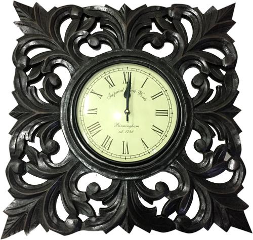 Wooden Black Wall Clock