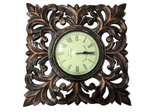 Wooden Golden Wall Clock