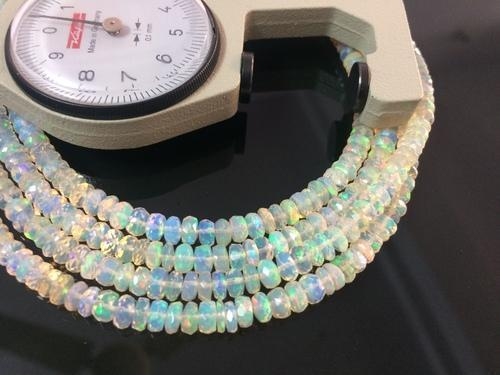 Natural Aaa Ethiopian Welo Opal Faceted Rondelle Bead