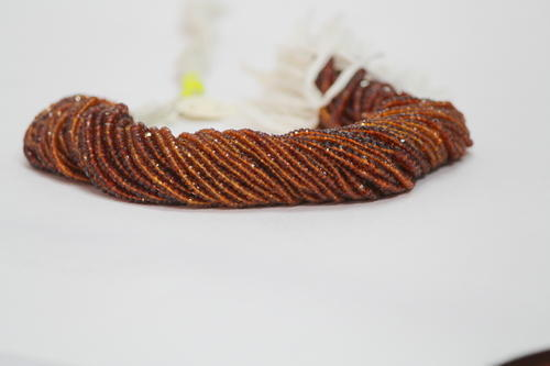 Brandy Citrine Faceted Rondelle Beads Strand