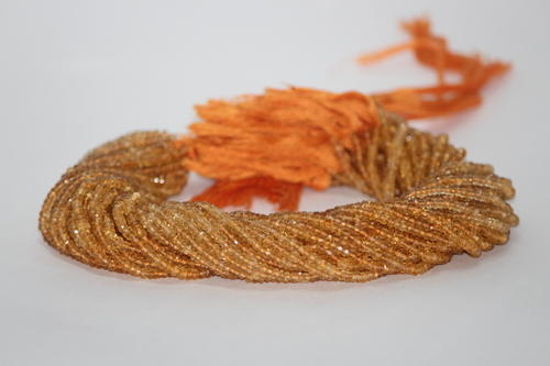Citrine Faceted Rondelle Beads 3-4.5mm