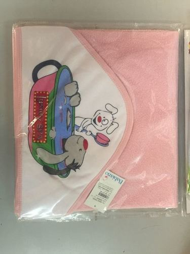 Baby Towel With Printed Hood