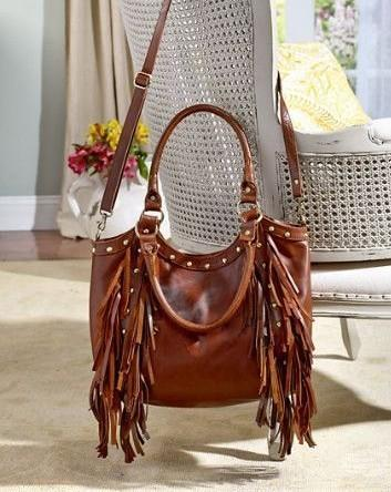 Exclusive Ladies Leather Fringe Bag