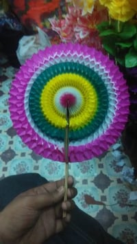 Hand Made Paper Decoration Fan
