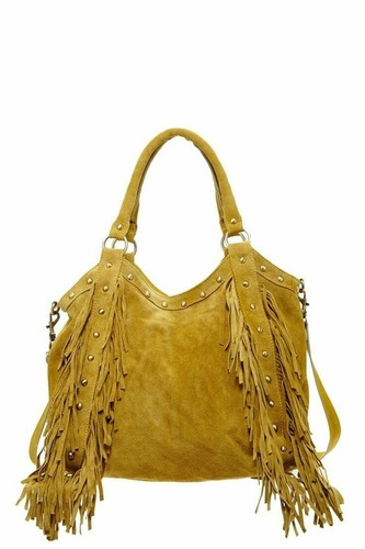 Fringe Leather Bag