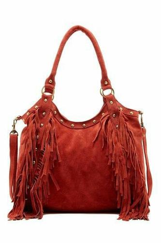 Ladies Fringe Leather Bag