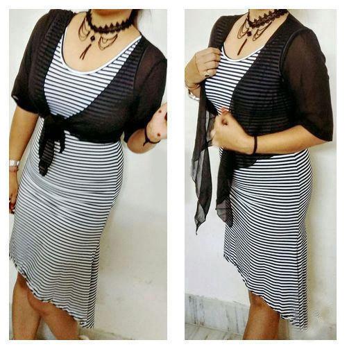 Girls Fancy Striped Top