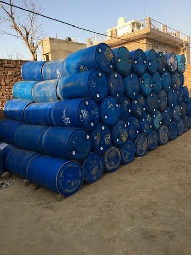 Empty Washed Used Plastic Barrels