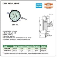 Insize 2308-10A (0.01mm) Dial Indicator
