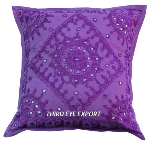 16 Mirror Embroidered Ethnic Decorative Cushion Pillow Cover