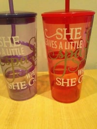 Printed Plastic Cups with Lid