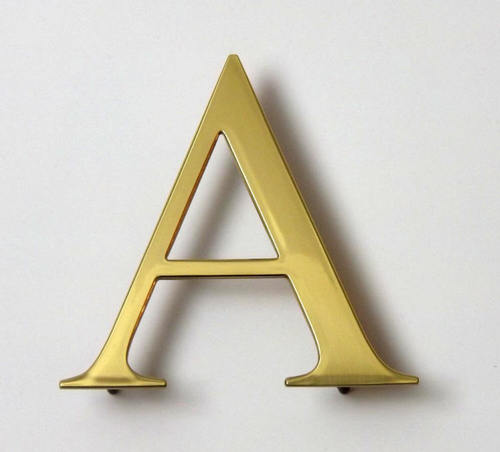 Polished Brass Letter