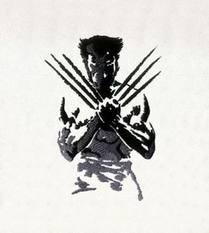 Artistic Shadow And Silhouette Wolverine Embroidery Design