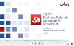 Sharepoint Layer 2 Business Data List Connector Software