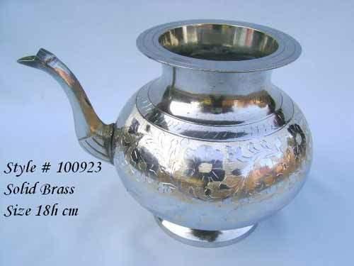 Solid Brass Tea Pot