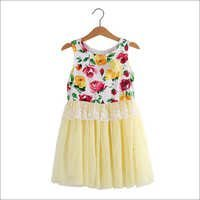Kids Cute Floral Print Dress