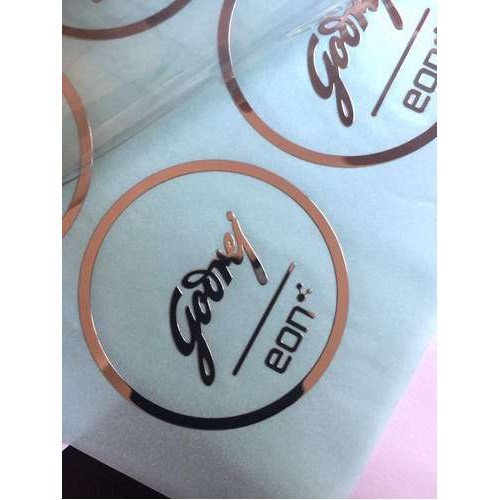 Durable electroplating logo sticker in new ashok nagar