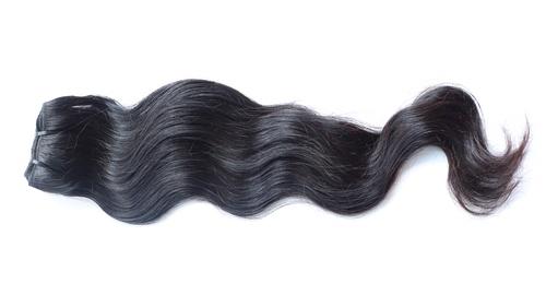 Remy Wefted Wavy Human Hair in  Porur