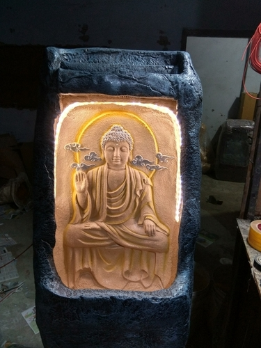 Budha Fiber Fountain With LED Light