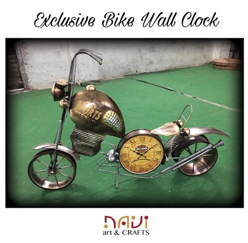 Iron Bike Design Wall Clock