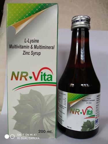Lysine Multivitamin And Multimineral Zinc Syrup (Nrvita)