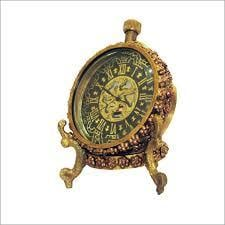 Antique Clocks Brass Dial With Stand
