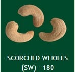 Scroched Wholes SW 180 Cashew Nuts