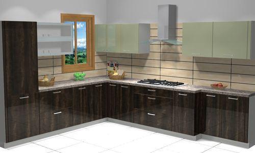 Modern L Type Modular Kitchen In New Area