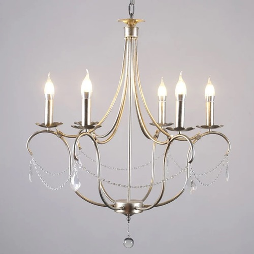 American Old Iron Wooden E14 Candle Chandeliers
