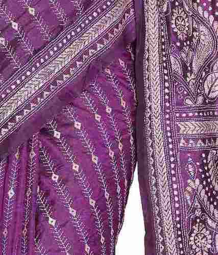Ladies Printed Kantha Saree