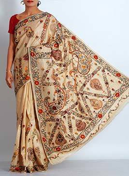Ladies Printed Zardosi Saree