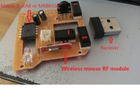 Wireless Mouse IC MX8650A with mouse main board and RF module