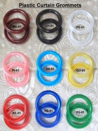 Colored Plastic Curtain Eyelets
