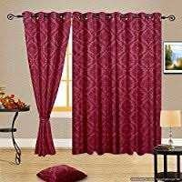 Maroon Color Window Curtains