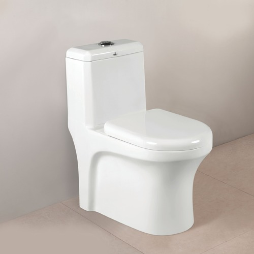 One Piece Toilet With Flush Tank