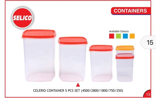 All Plastic Container 5 Piece Set