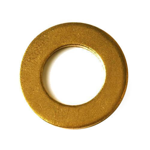 Round Shape Plain Brass Washer in  Giaspura