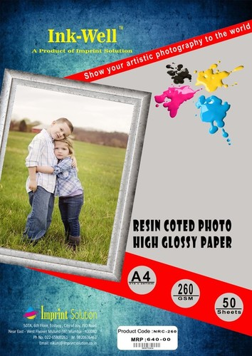 RC 260 GSM Resin Coated Glossy Photo Paper