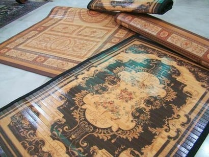 Brown Bamboo Placemats And Floormats